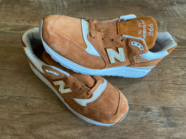 New Balance M998TCC MADE IN USA Shoes Mens Size 10 Brown Curry White Sneakers