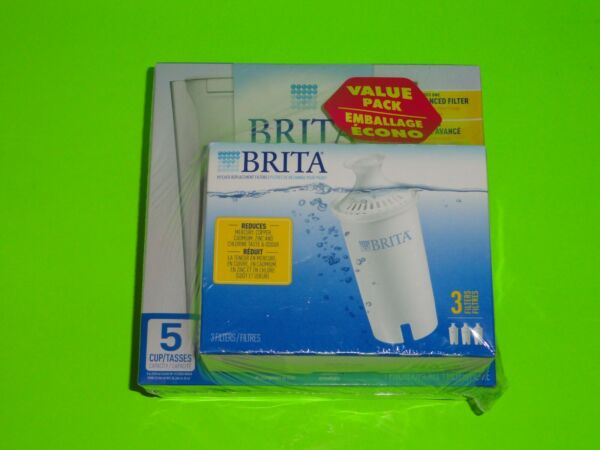 NEW Sealed White BRITA Slim Small Space Saver Water Pitcher 5 cup 4 Filter