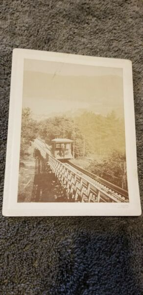 Antique ORIGINAL LAKE GEORGE NEW YORK INCLINE RAILWAY CAR PHOTO