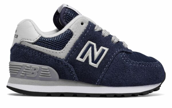 New Balance Kid's 574 Core Infant Boys Shoes Navy with Grey