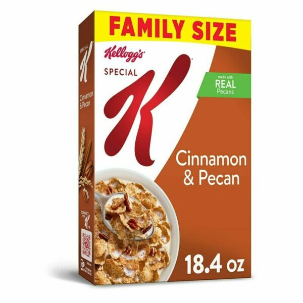 Kellogg#x27;s Special K Breakfast Cereal Cinnamon and Pecan Value Size...