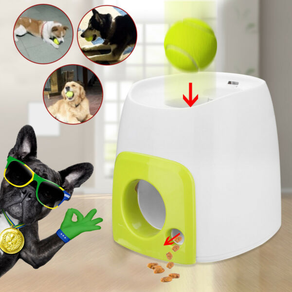 New Automatic Pet Dog Launcher Tennis Ball Toy Interactive Fetch Chucker Thrower