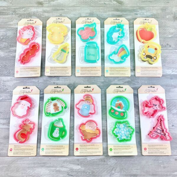 NEW Sweet Sugarbelle Specialty Cookie Cutter Template Set - Dishwasher Safe