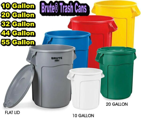Rubbermaid Commercial Products Brute Garbage 10- 55 Gal Bin Trash Can No Lid