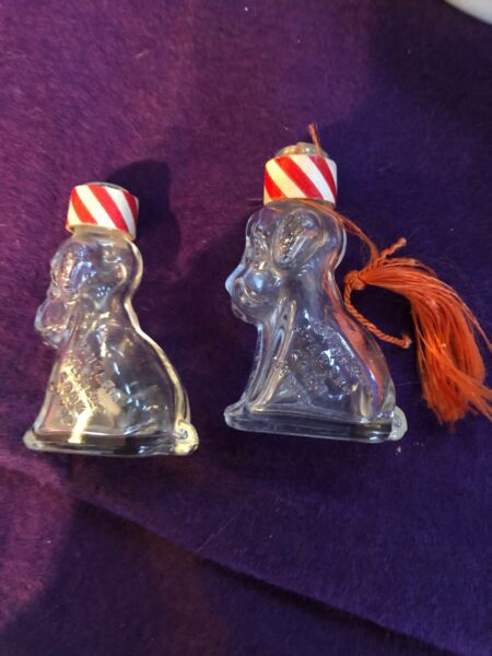 Antique Glass Bottle Sugar Starch Corn Syrup Dog Shaped Certified Colors $18.00