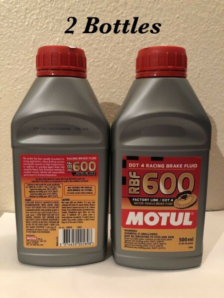 (2 X 500 ML) MOTUL RBF 600 FACTORY LINE DOT 4 RACING BRAKE FLUID SYNTHETIC