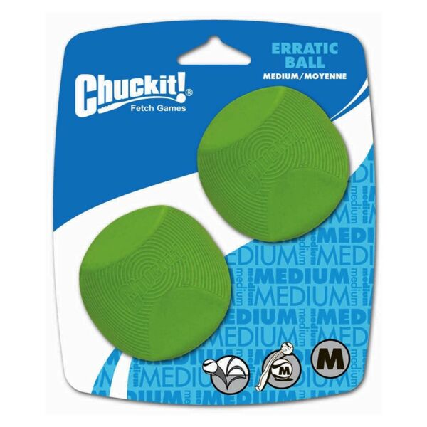 Chuckit! Dog Fetch Toy ERRATIC BALL Unpredictable Bounce Fits Launcher MEDIUM $10.78