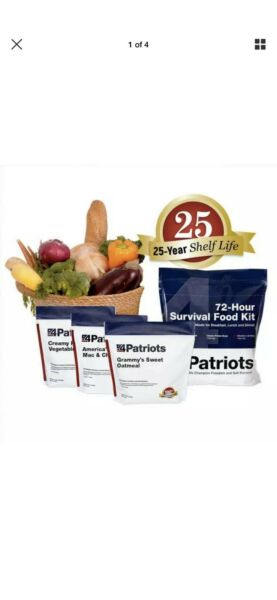 4 Patriots. 72 Hour Food Survival Kit. Survival/Emergency/Camping. 25 year Life