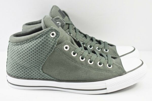 Converse Chuck Taylor Hi Street Mens Size 10 Shoes River Rock Green 160877F