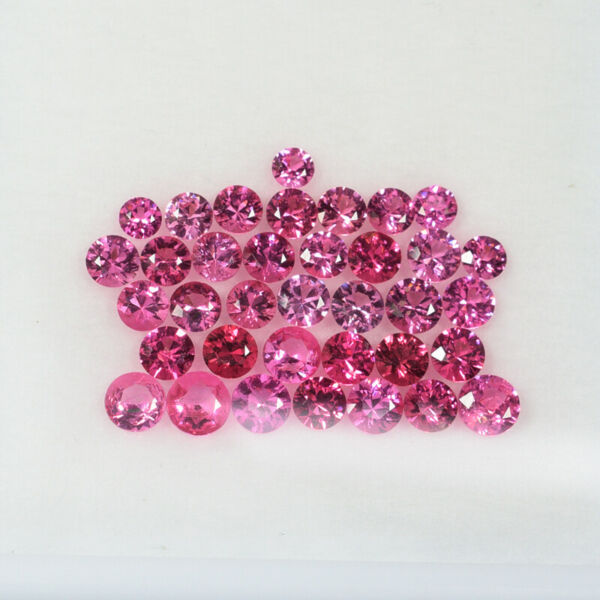 4.70 ct ULTIMATE -  AAA  PINK & Red LOT - NATURAL SPINEL - Round 35pcs !!
