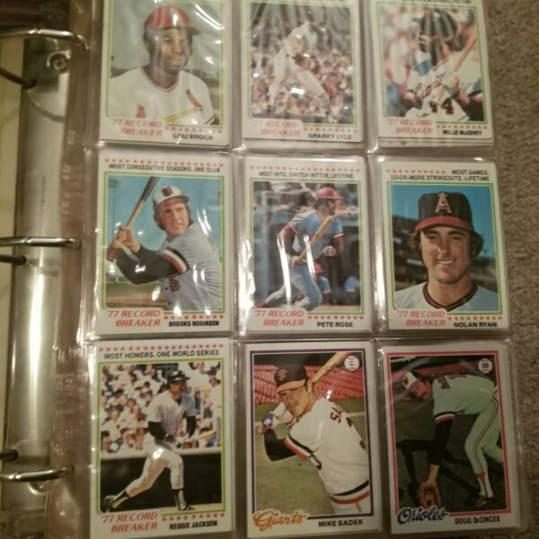 1978 Topps Baseball Complete 726 Card Set in Binder w Murray RC Very Nice!