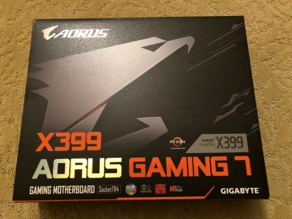 NEW GIGABYTE X399 AORUS Gaming 7 TR4 AMD ThreadRipper 4 Way SLI Motherboard