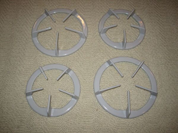 Set of 4 New Whirlpool Gas Stove Grates Color Gray Part 814292