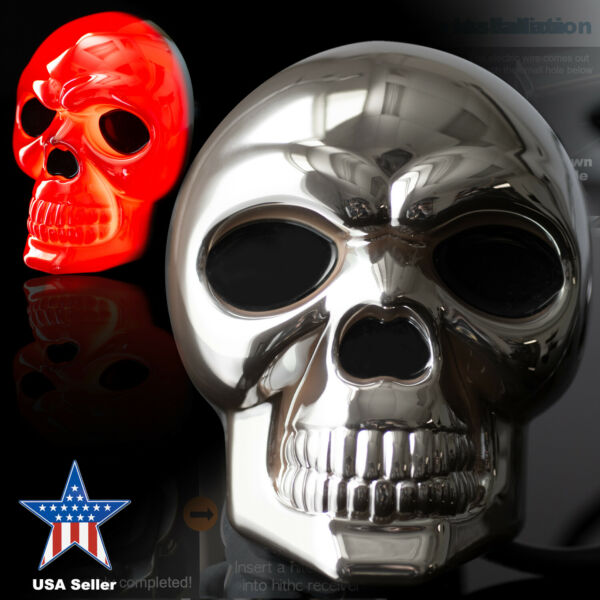 Skull LED Light Up Tow Trailer Hitch Receiver Covers for Trucks 2quot; 1.25quot; $27.99