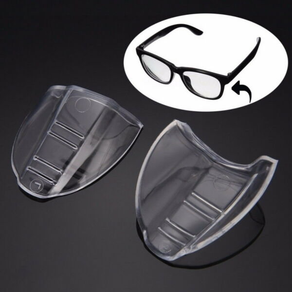 4 X Universal Clear Flexible Side Shields Safety Glasses Goggles Eye Protection $6.49