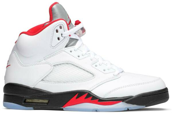Nike Air Jordan 5 Retro Fire Red Silver Tongue (2020) Authentic Mens New