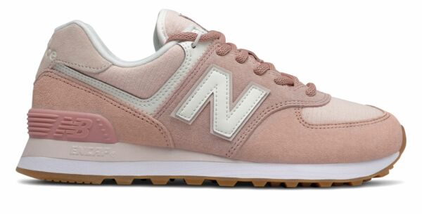 New Balance Women's 574 Shoes Red with Pink