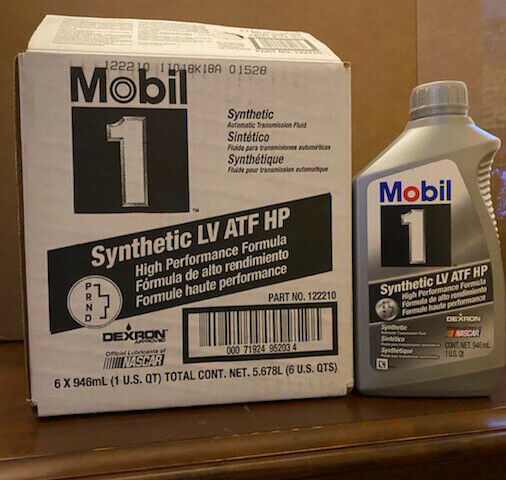 6 Quarts Mobil1 Synthetic LV ATF HP 122210 Transmission Fluid 1 Case