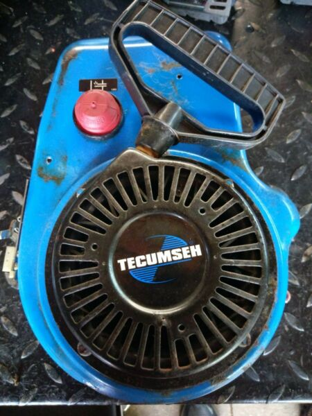 RARE *BLUE* Tecumseh OHSK90 Cub Cadet Snowblower Recoil Starter Blower Cover NLA
