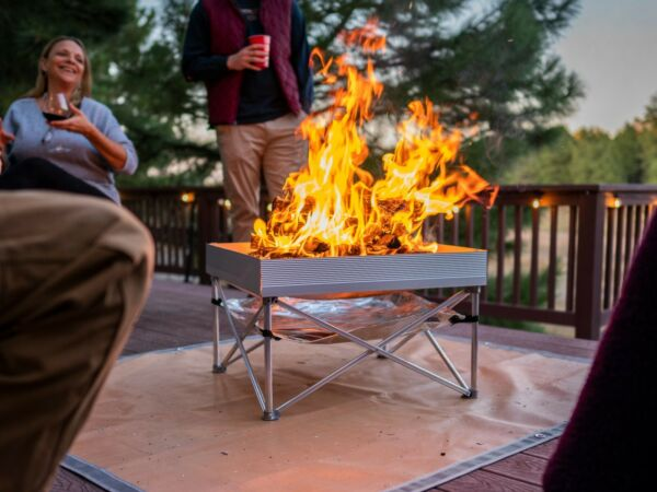 OPEN BOX POP UP Portable Fire Pit With Heat Shield For Camping amp; Backyards