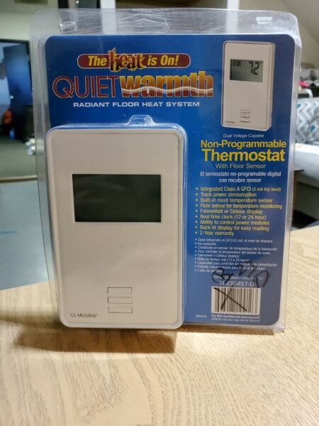 QUIET WARMTH Non Programmable Digital Radiant Heat Thermostat w Floor Sensor $69.00