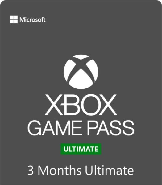 Xbox Game Pass Ultimate 3 Month Gold Membership Quick Delivery *Single Code* $27.50