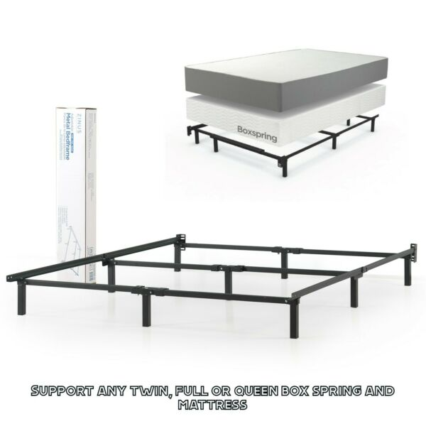 Adjustable Bed Frame Twin Full Queen Size Metal Box Spring Mattress Foundation $59.90