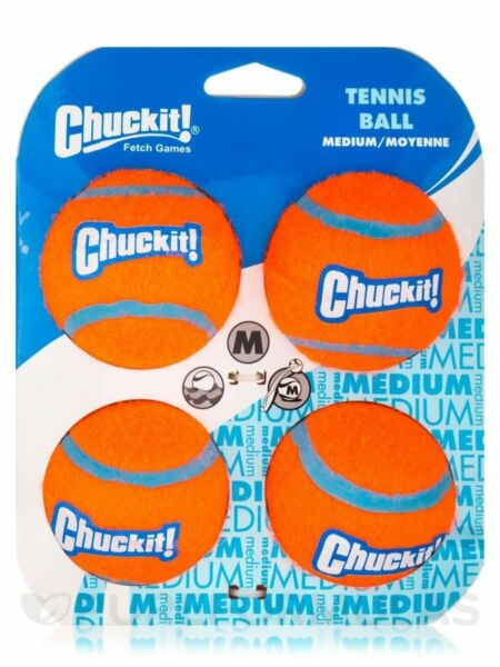 Chuckit! Dog Fetch TENNIS BALLS Floating Soft Toy Fits Launcher MEDIUM 4 PACK $10.34