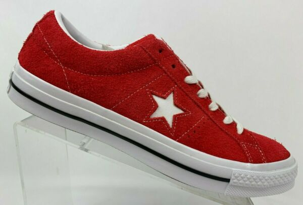 Converse One Star OX 158434C Red Suede White Chuck Taylor NEW Multiple Sz