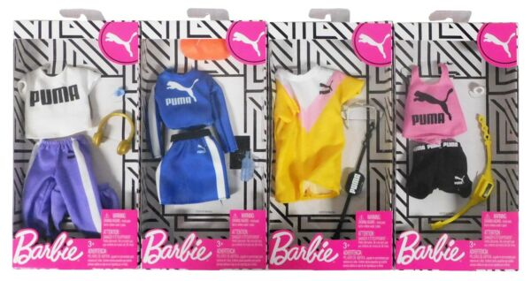 Barbie PUMA FASHION PACK Doll Clothes Set Of 4 Top Skirt Shorts Pants Hat 2020