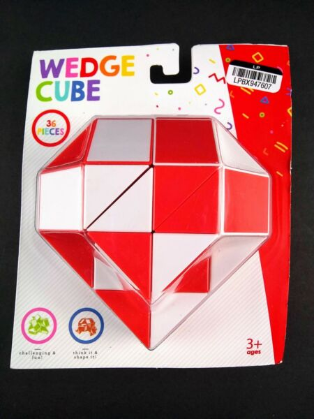 Wedge Cube 36 Pieces Think it Shape it Create Dog Snake Heart and More Geometric $11.99