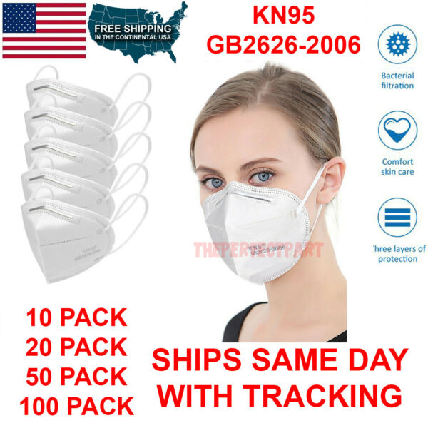 KN95 Protective 5 Layers Face Mask Disposable Mouth Cover PM2.5 Respirator BFE $16.59