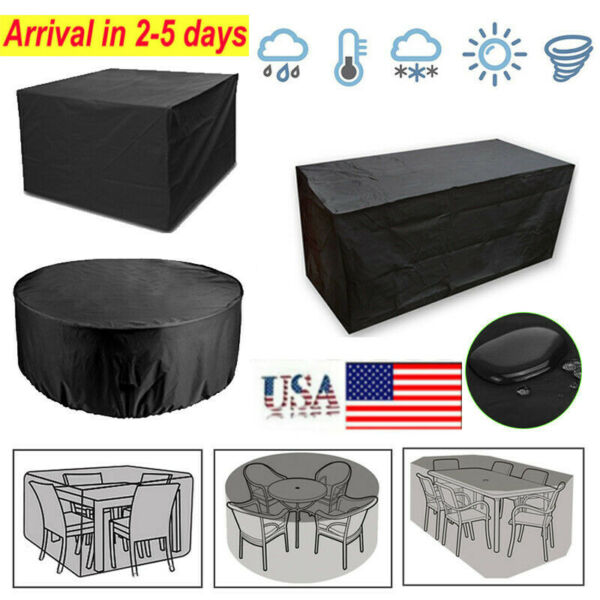 Heavy Duty Waterproof Garden Patio Furniture Cover Outdoor Large Rattan Table US $32.99