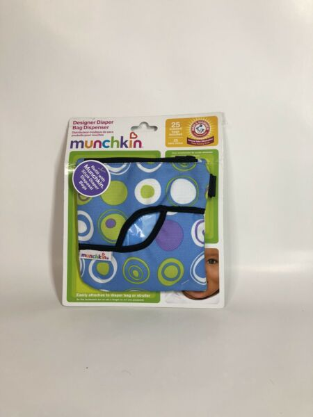 Munchkin Fabric Diaper Bag Dispenser Arm amp; Hammer 25 scented bags included NEW $9.95