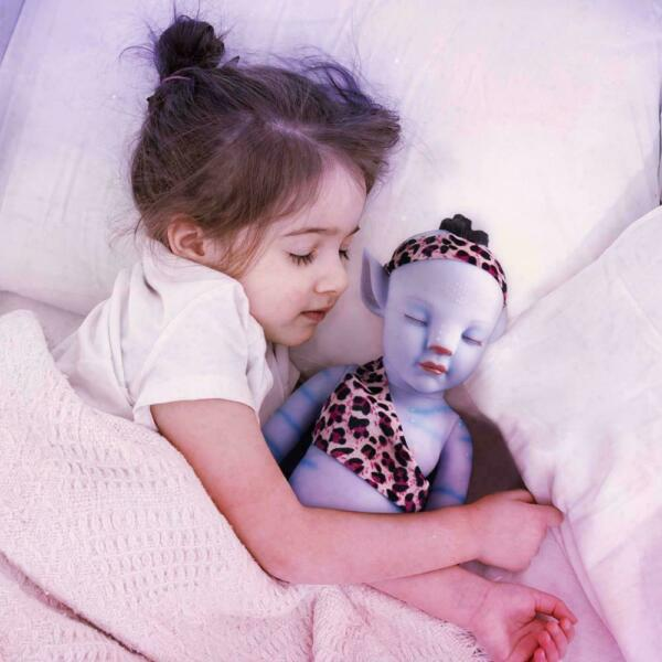 Special sales 50cm Lifelike Eyes Closed Hair Avatar Girl Silicone Reborn Doll