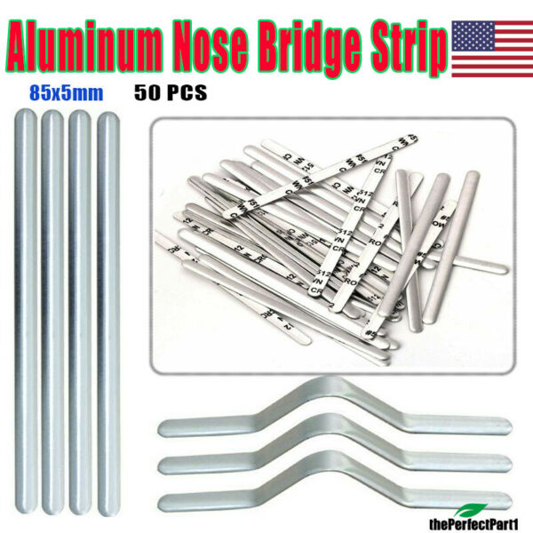 Aluminum Nose Bridge Strips 50PCS Metal Clip Wire for Face Mask Sewing Craft DIY $5.99