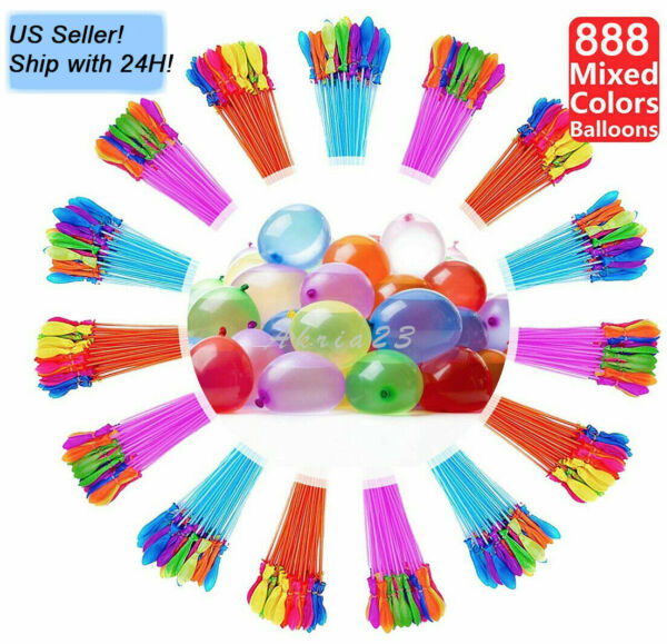 US SELLER 888 pcs 24 Bunch Instant water Balloons Self Sealingalready tied $24.99