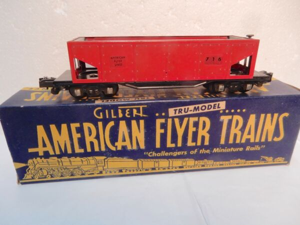 Vintage American Flyer Lines #716 automatic dump car in Original condition w box $37.99