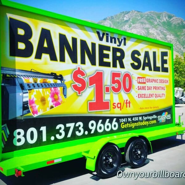 10'x20' MOBILE  BILLBOARD TRAILER ADVERTISING SIGN WITH SOLAR PANELS