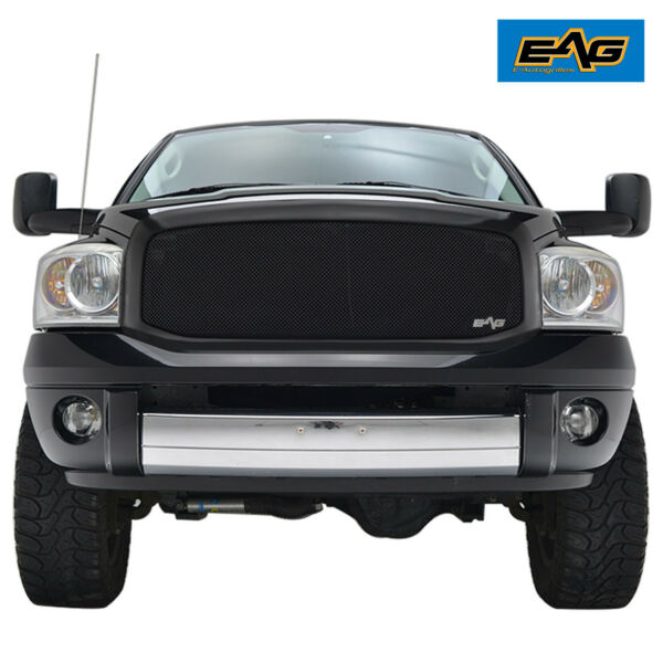 EAG Fit 06 08 Dodge Ram 1500 2500 3500 Replacement Mesh Grille Stainless Steel