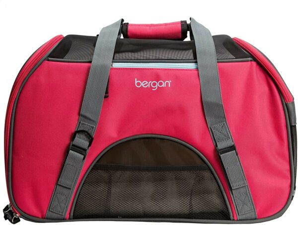 NEW Bergan Comfort Carrier for Pets Berry Red For Small Pets Airline Approved $26.75