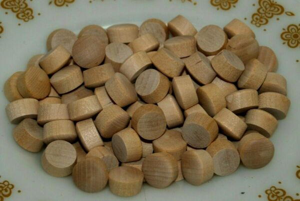 100 New Oak Wood Furniture Screw Hole Plug Round Head 1 2quot; tapered to 7 16quot; $7.99