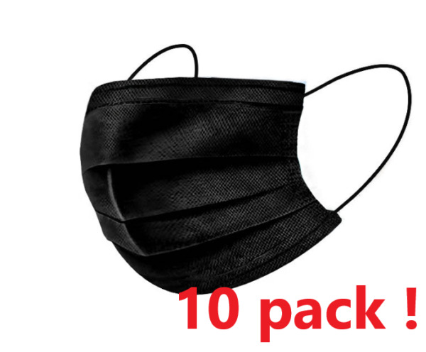 *10pack* Protective Face Mask Black  $7.00