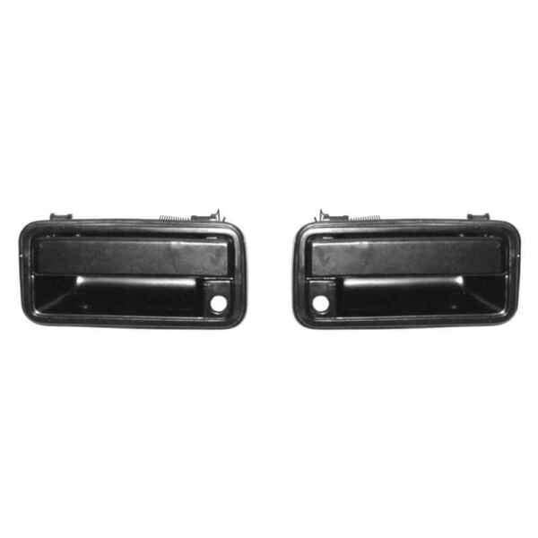 Black Outside Front Door Handles for 88-94 Chevy GMC pickup 92-94 Blazer PAIR
