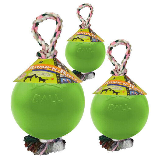 Jolly Pets Romp-n-Roll Ball for Dogs Green Apple 4.5 inch $13.17