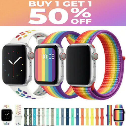 For Apple Watch Nylon Silicone Sports Strap Band Series 5/4/3/2/1 38/40/42/44mm