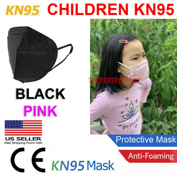 CHILD KN95 Face Mask Disposable Mouth Cover MEDICAL Protective Respirator PM2.5