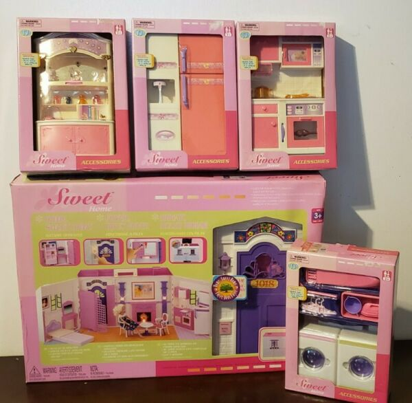 NEW VTG Goldlok toys Barbie compatible Sweet Home House Kitchen Laundry Hutch