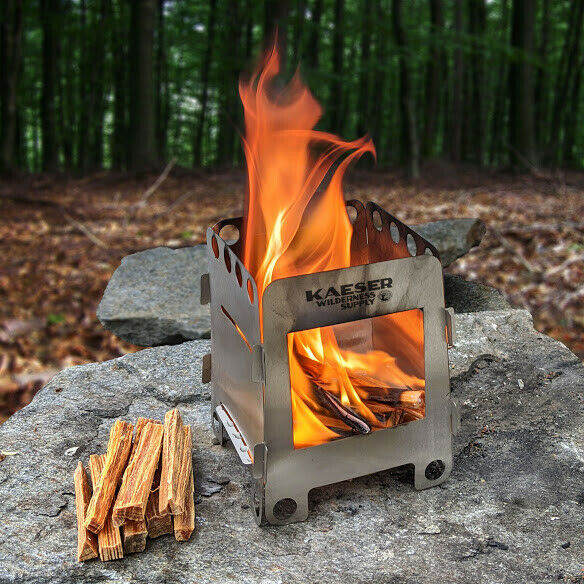 Wood Burning Folding Camping Stove Lightweight Camping Hiking