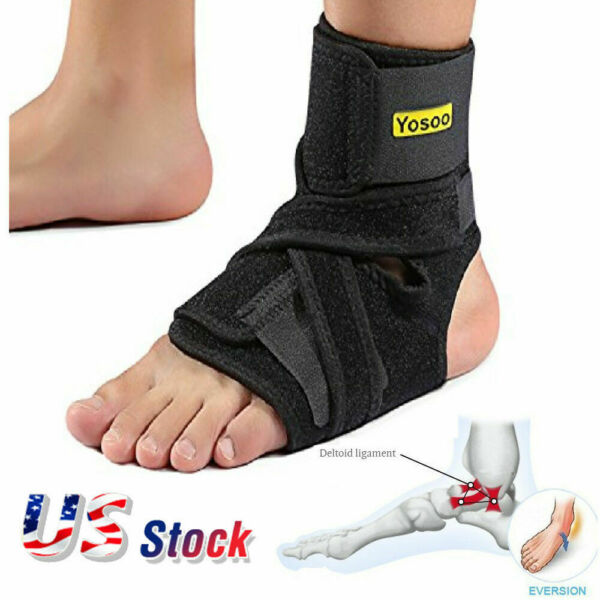 Yosoo Night Foot Drop Orthosis Brace Ankle Plantar Fasciitis Splint Support New